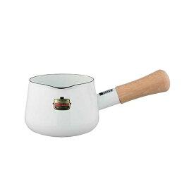 【富士ホーロ—】 ソリッド ホーローミルクパン 12cm SD-12M・W ホワイト 【キッチン用品:調理用具・器具:ミルクパン:IH/ガス両方対応】【FUJIHORO】