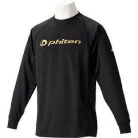【ファイテン】 RAKUシャツSPORTS(吸汗速乾)長袖 [カラー:ブラック×ゴールド] [サイズ:M] #JG180204 【スポーツ・アウトドア:その他雑貨】【PHITEN】
