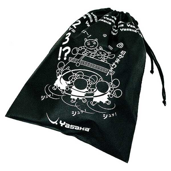 【ヤサカ】 ケース&バッグ にゃんこシューズ袋3 [カラー:ブラック] [サイズ:43×33cm] #H24-90 【スポーツ・アウトドア:その他雑貨】【YASAKA】