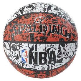 【スポルディング】 GRAFFITI(グラフィティ) レッド バスケットボール 7号球 [カラー:レッド×ホワイト] #83-574Z 【スポーツ・アウトドア:その他雑貨】【SPALDING】