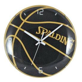 【スポルディング】 ボールクロック [サイズ:直径25cm] #10-002WC 【スポーツ・アウトドア:スポーツ・アウトドア雑貨】【SPALDING BLACK CLOCK 25cm】