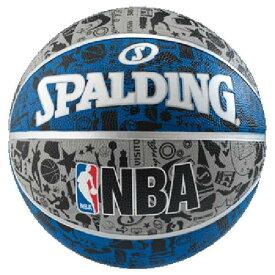 【スポルディング】 GRAFFITI(グラフィティ) ブル— バスケットボール 5号球 [カラー:ホワイト×ブラック×ブルー] #83-678J 【スポーツ・アウトドア:その他雑貨】【SPALDING】