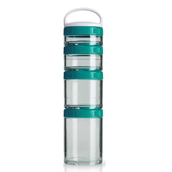 【ブレンダーボトル】 ブレンダーボトル ゴースタック スターター4パック [カラー:ティール] #BBGSS4P-TEA 【スポーツ・アウトドア:フィットネス・トレーニング:スポーツ器具】【BLENDER BOTTLE Blender Bottle GoStak Starter 4Pack】