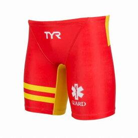 【ティア】 ロングボクサ— メンズ ライフガード [サイズ:M] [カラー:レッド×イエロー] #JGARD-18M-RDYL 【スポーツ・アウトドア:水泳】【TYR MENS STAR OF LIFE GUARD LONG BOXER】