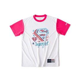【スポルディング】 Tシャツ スーパーガール [サイズ:S] [カラー:ホワイト×ピンク] #SMT190620 【スポーツ・アウトドア:バスケットボール:ウェア:レディースウェア:プラクティスシャツ】【SPALDING】