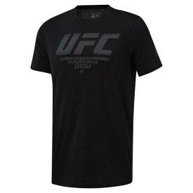 【5%offクーポン(要獲得) 9/20 0:00〜9/23 23:59】 UFC ロゴTシャツ [サイズ:M] [カラー:ブラック] #DQ2007 【リーボック: スポーツ・アウトドア 格闘技・武術 その他】【REEBOK】