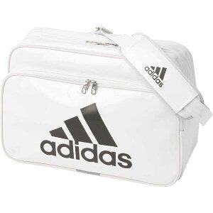【アディダス】 エナメルバッグ(L) [カラー:ホワイト×ブラック] [サイズ:46×32×19cm(27L)] #ETX13-CX4037 【スポーツ・アウトドア:アウトドア:バッグ:ボストンバッグ・ダッフルバッグ】【ADIDAS