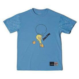 【スポルディング】 Tシャツ トゥイーティ— バルーン [サイズ:L] [カラー:サックス] #SMT181370 【スポーツ・アウトドア:その他雑貨】【SPALDING T-Shirt TWEETY BALLOON】