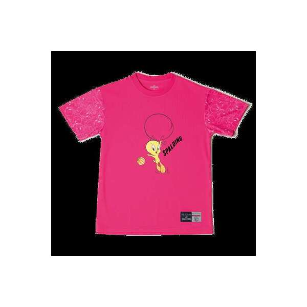 【スポルディング】 Tシャツ トゥイーティ— バルーン [サイズ:M] [カラー:ピンク] #SMT181370 【スポーツ・アウトドア:その他雑貨】【SPALDING T-Shirt TWEETY BALLOON】
