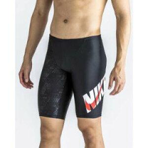 【ナイキ】 エンボス ブロックロゴ ロングスパッツ(メンズ練習用水着) [サイズ:L] [カラー:ブラック×Uレッド] #2982905-05 【スポーツ・アウトドア:水泳:競技水着:メンズ競技水着】【NIKE】