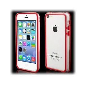 【500円offクーポン(要獲得) 4/29 9:59まで】 【送料込み(沖縄・離島を除く)】 iPhone5c ハイブリッドバンパー プラスチック&TPU クリア/レッド 【iPhone5c: 電化製品 スマートフォン iPhoneケース】