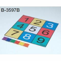【トーエイライト】 ターゲットプレイシート(B) [カラー:赤・青・緑・オレンジ・黄・紫] [サイズ:シート:90×90cm/ビーンズバッグ(B-5964):9×9.5cm] #B-3597B 【スポーツ・アウトドア:スポーツ・アウトドア雑貨】【TOEI LIGHT】