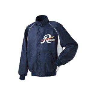 【レワード】 ジュニアグランドコート セミロングカラー(ボタン付) 野球グランドコート [カラー:ネイビー×シルバーグレー] [サイズ:150] #JGW-04 【スポーツ・アウトドア:野球・ソフトボー