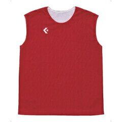 【コンバース】ウィメンズリバーシブルノースリーブシャツCB33704[カラー:レッド×ホワイト][サイズ:OXO]#CB33704-6411【スポーツ・アウトドア:スポーツ・アウトドア雑貨】【CONVERSE】