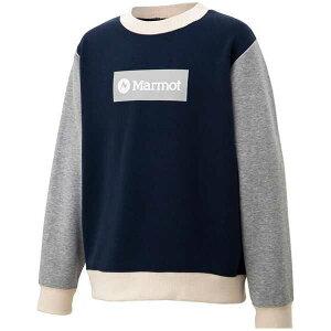 【マーモット】 キッズスウェットロゴクルー(ジュニア) [サイズ:150cm] [カラー:マルチ] #TOJQJB10-ML 【スポーツ・アウトドア:その他雑貨】【MARMOT Marmot Kids Sweat Logo Crew】