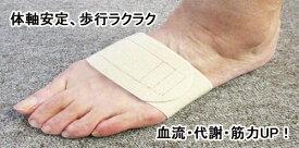 体軸安定、歩行ラクラク!血流・代謝・筋力UP!プラウシオンの足のアーチベルト【げんきパワー】