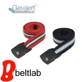 ベルト ゴムベルト メンズ レディース ゴム ガチャベルト 日本製 『 ゲバルト GEVAERT BANDWEVERIJ 』伸縮性ばつぐんでとっても軽量、7色ボーダー柄のゲバルト ゴムテープ、動きやすいベルト 金属アレルギー 無段階 空港 アウトドア スポーツ カジュアル Belt BL-LB-0675