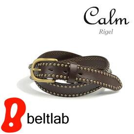 【ベルト スタッズベルト】『 Calm -Rigel- 』 スタッズのラインがきらめくベルト カジュアルベルト メンズ レディース 本革ベルト 牛革ベルト デニム Belt ギフト