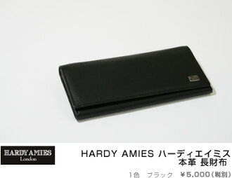 HARDY AMIES Hardy Amies real leather long wallet