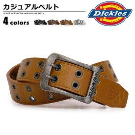 ベルト メンズ ディッキーズ Dickies ダブルピン 幅38mm ブラック/ダークブラウン/ブラウン/ホワイト DS0126C ベルトン belton