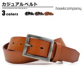 ホークカンパニー Hawk Company ベルト メンズ レザー ブラック/ブラウン/チョコ 幅35mm 335