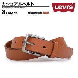 リーバイス Levi's ベルト カジュアル メンズ 本革 ブランドロゴ ブラック/ダークブラウン/ブラウン 幅30mm 15116602