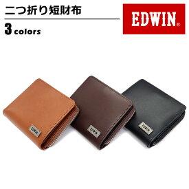 財布 メンズ エドウィン EDWIN 二つ折り財布 リサイクルレザー 財布 men's ladies wallet ブラック ダークブラウン ブラウン 黒 茶 ワンサイズ ベルトン Belton