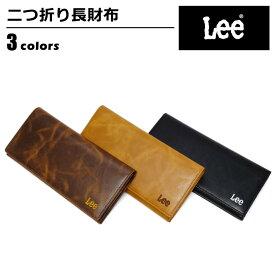 8095e6eb0520 財布 メンズ リー Lee 長財布 ボンデットレザー 再生皮革 プレゼント ロゴ 無地 シンプル 520368