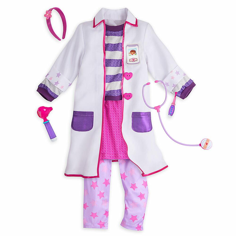 【1-2日以内に発送】ディズニー Disney US公式商品 ドックはおもちゃドクター コスチューム 衣装 ドレス 服 コスプレ ハロウィン ハロウィーン 服 コスプレ セット 子供用 キッズ 女の子 男の子 [並行輸入品] Doc McStuffins Costume Set for Kids グッ