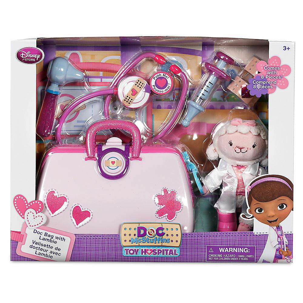 【あす楽】ディズニー Disney USA公式商品 ドックはおもちゃドクター ラミー 診察バッグ おもちゃセット 玩具 おもちゃドクター ドック [並行輸入品] Doc McStuffins Toy Hospital Play Set with Lambie Plush クリスマス グッズ ストア プレゼント ギフト