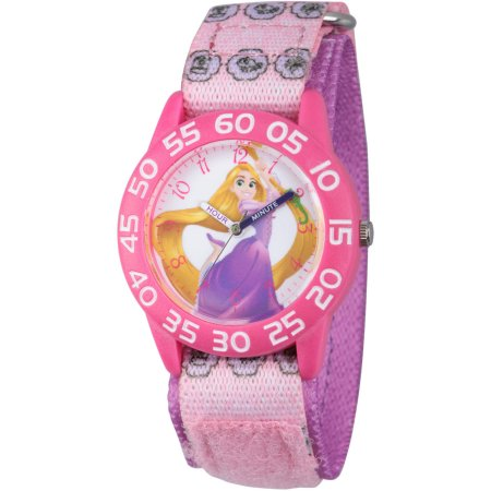 【1-2日以内に発送】ディズニー Disney 塔の上のラプンツェル プリンセス 腕時計 女の子用 子供用 パープル 女の子 男の子 ガールズ [並行輸入品] Princess Rapunzel Girls' Pink Plastic Time Teacher Watch, Purple Hook and L