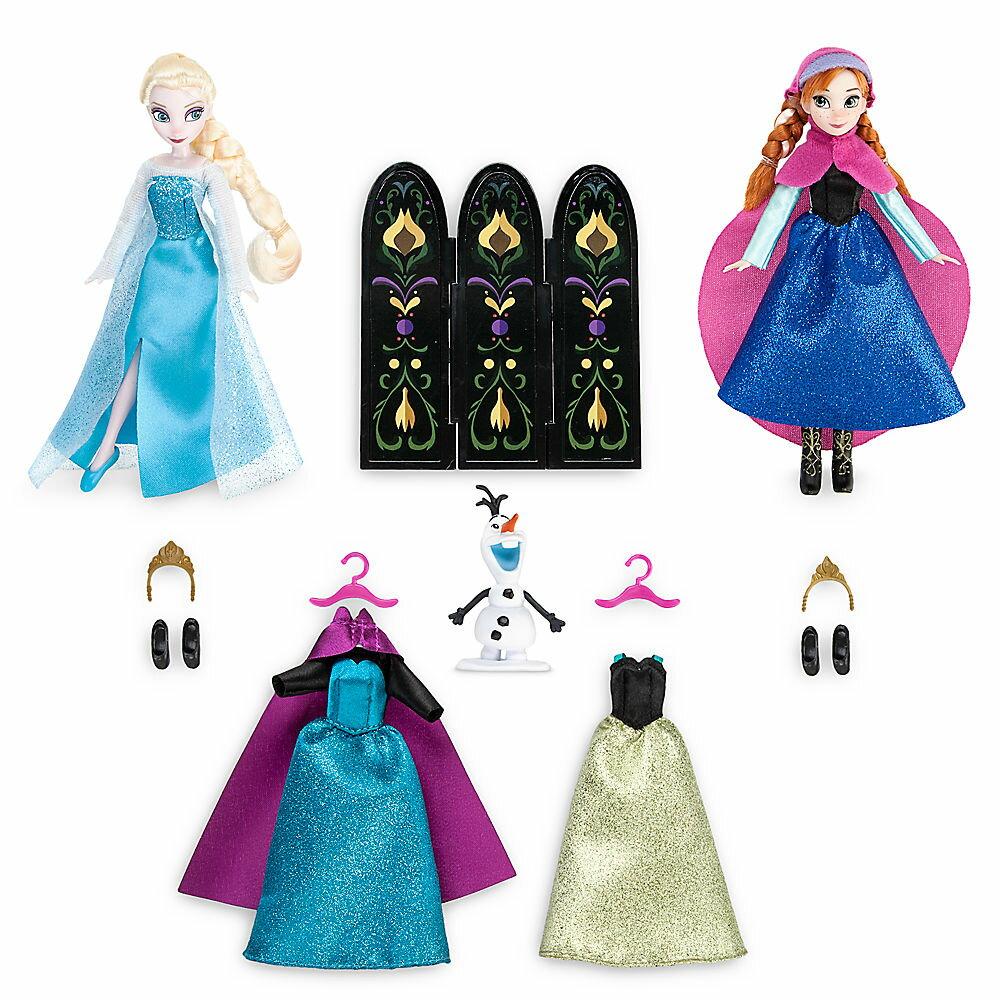 【あす楽】ディズニー Disney US公式商品 アナ雪 アナと雪の女王 フローズン エルサ プリンセス おもちゃ 玩具 トイ 人形 ドール フィギュア セット ミニ ローブ 部屋着 服 [並行輸入品] Anna and Elsa Mini Doll Wardrobe Play Set - Frozen 5 1/2'