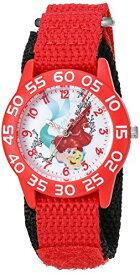 【1-2日以内に発送】ディズニー Disney リトルマーメイド アリエル Ariel プリンセス 腕時計 時計 うでどけい とけい ウォッチ 女の子 ガールズ 子供用 ベビー [並行輸入品] Disney Girl's 'Ariel' Quartz Plastic and Nylon Automatic Watch, Color:Red (Model: