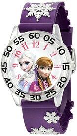 【1-2日以内に発送】 ディズニー Disney アナ雪 アナと雪の女王 フローズン エルサ プリンセス 腕時計 時計 うでどけい とけい ウォッチ 子供用 キッズ 女の子 男の子 [並行輸入品] Disney Kids' W002437 Frozen Elsa & Anna Time Teacher Analog Display Quartz P