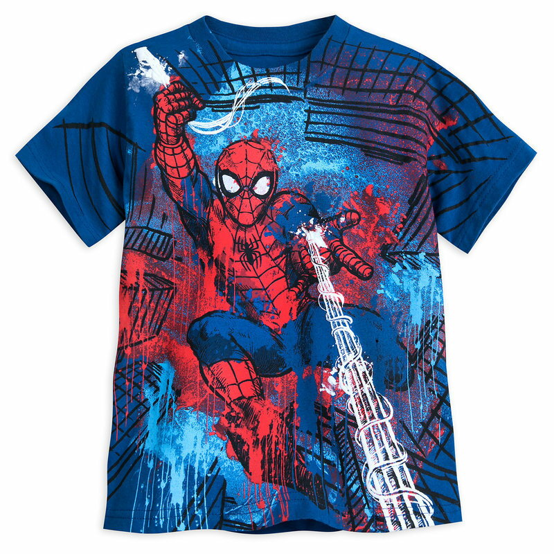 【1-2日以内に発送】 ディズニー Disney US公式商品 スパイダーマン Tシャツ トップス 服 シャツ 男の子用 子供 男の子 ボーイズ [並行輸入品] Spider-Man T-Shirt for Boys グッズ ストア プレゼント ギフト 誕生日 人気 クリスマス 誕生日 プレゼント ギフト