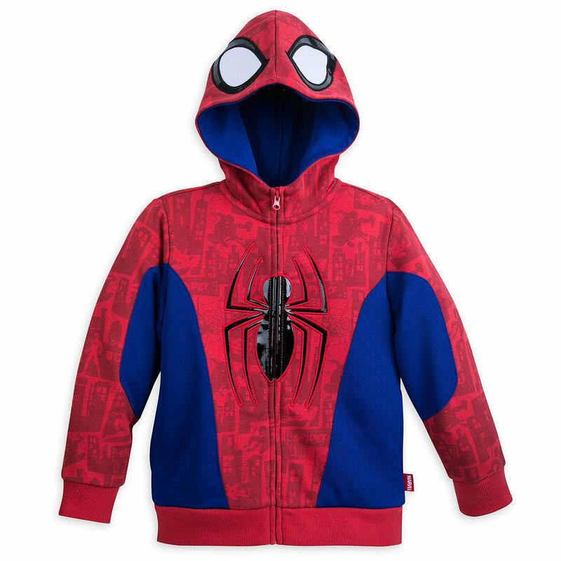 【取寄せ】 ディズニー Disney US公式商品 スパイダーマン フード付き パーカー 上着 服 コスチューム 衣装 ドレス コスプレ ハロウィン ハロウィーン フリース 服 コスプレ 洋服 男の子用 子供 男の子 ボーイズ [並行輸入品] Spider-Man Costume Fleece Hoodie for Boys グ