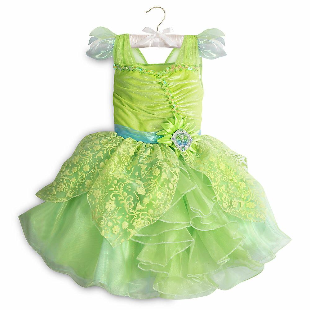 【1-2日以内に発送】 ディズニー(Disney)US公式商品 ティンカーベル コスチューム 衣装 ドレス 服 コスプレ ハロウィン ハロウィーン 服 コスプレ 子供用 キッズ 女の子 【注意:羽は付属しません】[並行輸入品] Tinker Bell Costume for Kids グッズ ストア
