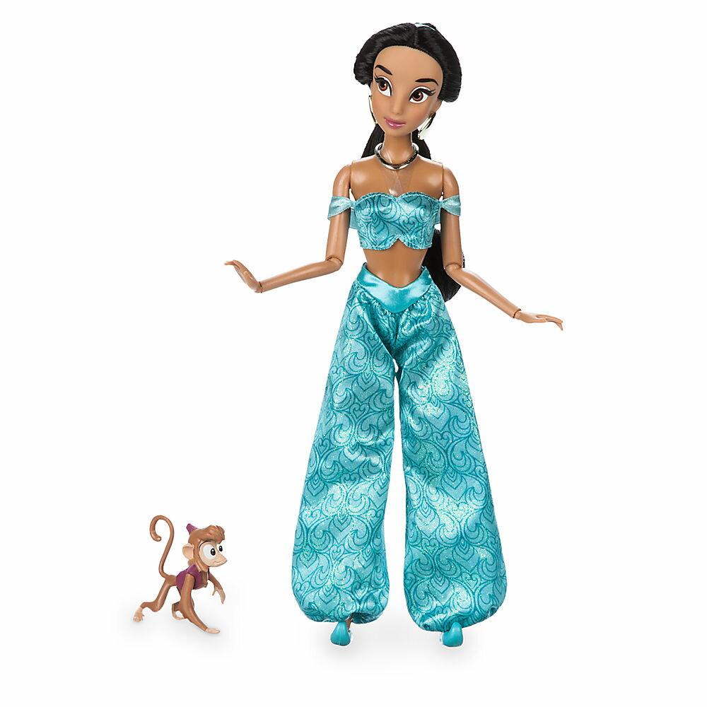 【1-2日以内に発送】ディズニー Disney US公式商品 アラジン ジャスミン プリンセス アブ Abu Jasmine フィギュア 置物 人形 クラシックドール ドール おもちゃ [並行輸入品] Classic Doll with Figure - 11 1/2'' グッズ ストア プレゼント ギフト 誕生