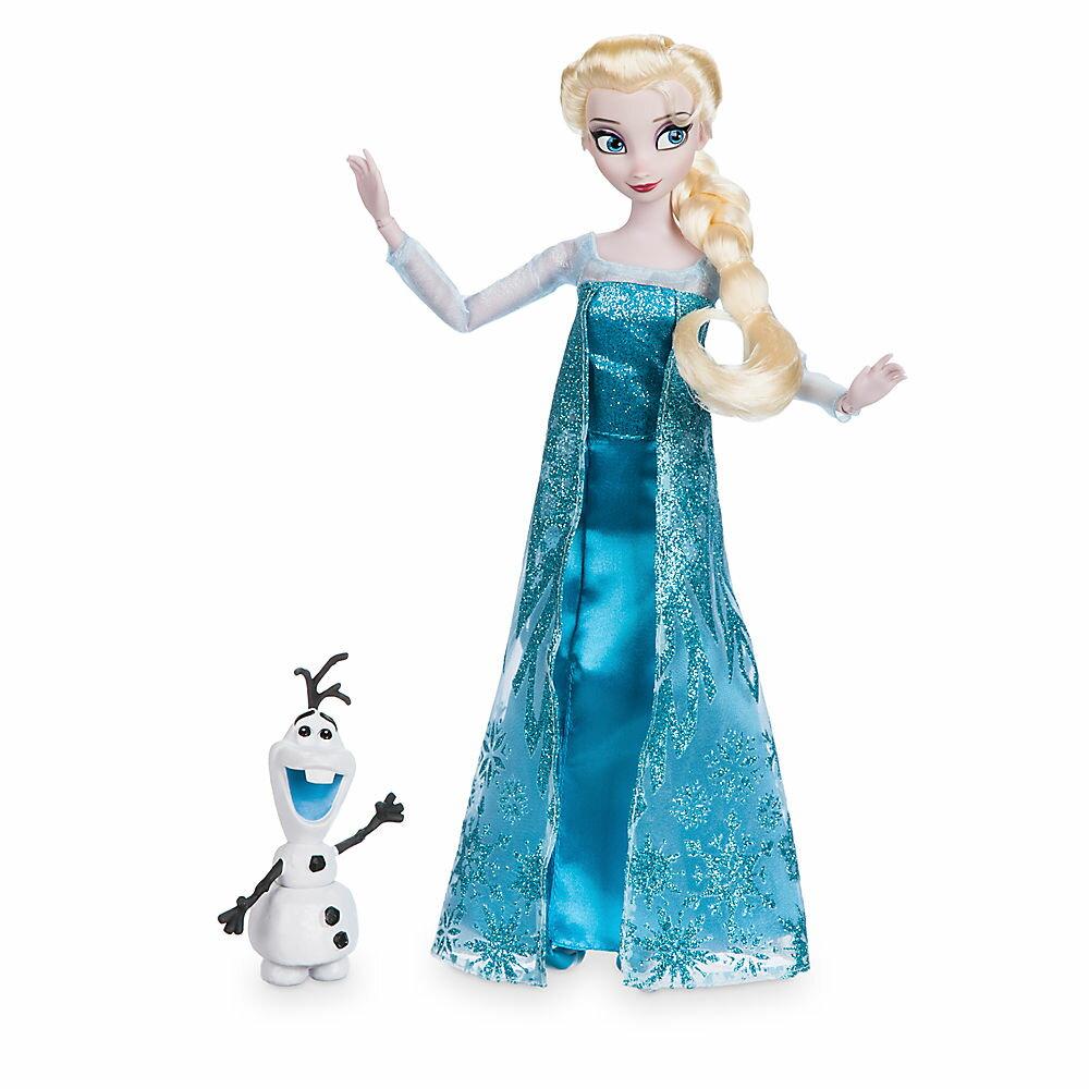 【1-2日以内に発送】ディズニー Disney US公式商品 アナと雪の女王 フローズン エルサ プリンセス オラフ フィギュア 置物 人形 クラシックドール ドール おもちゃ [並行輸入品] Elsa Classic Doll with Olaf Figure - 11 1/2'' グッズ ストア プレゼン