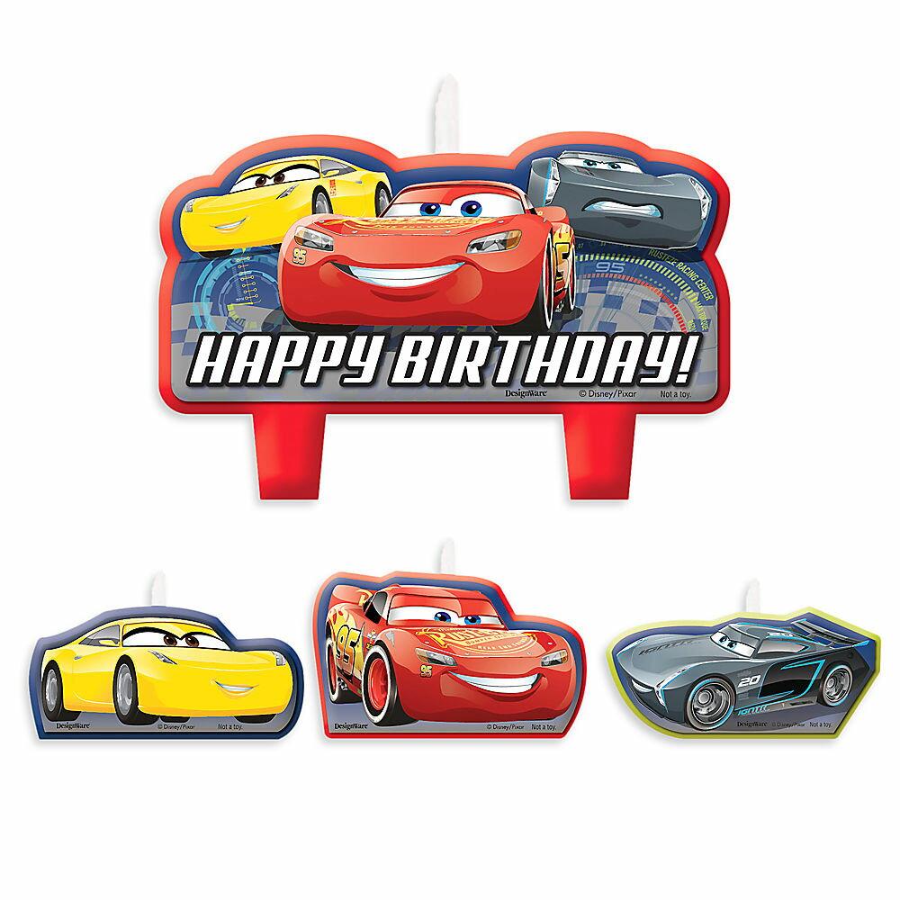 【取寄せ】 ディズニー Disney US公式商品 カーズ Cars キャンドル 置物 ろうそく 蝋燭 パーティー セット バースデイキャンドル 誕生日 バースデー [並行輸入品] 3 Birthday Candle Set グッズ ストア プレゼント ギフト 人気 クリスマス 誕生日 プレゼント ギフト
