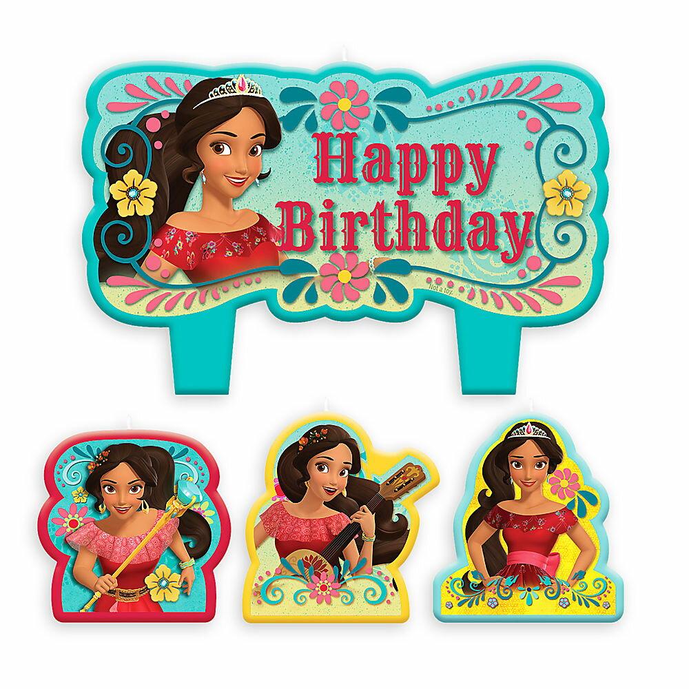【取寄せ】 ディズニー Disney US公式商品 エレナ アバローのエレナ プリンセス エレナ姫 ディズニージュニア キャンドル 置物 ろうそく 蝋燭 パーティー セット バースデイキャンドル 誕生日 バースデー [並行輸入品] Elena of Avalor Birthday Candle Set グ