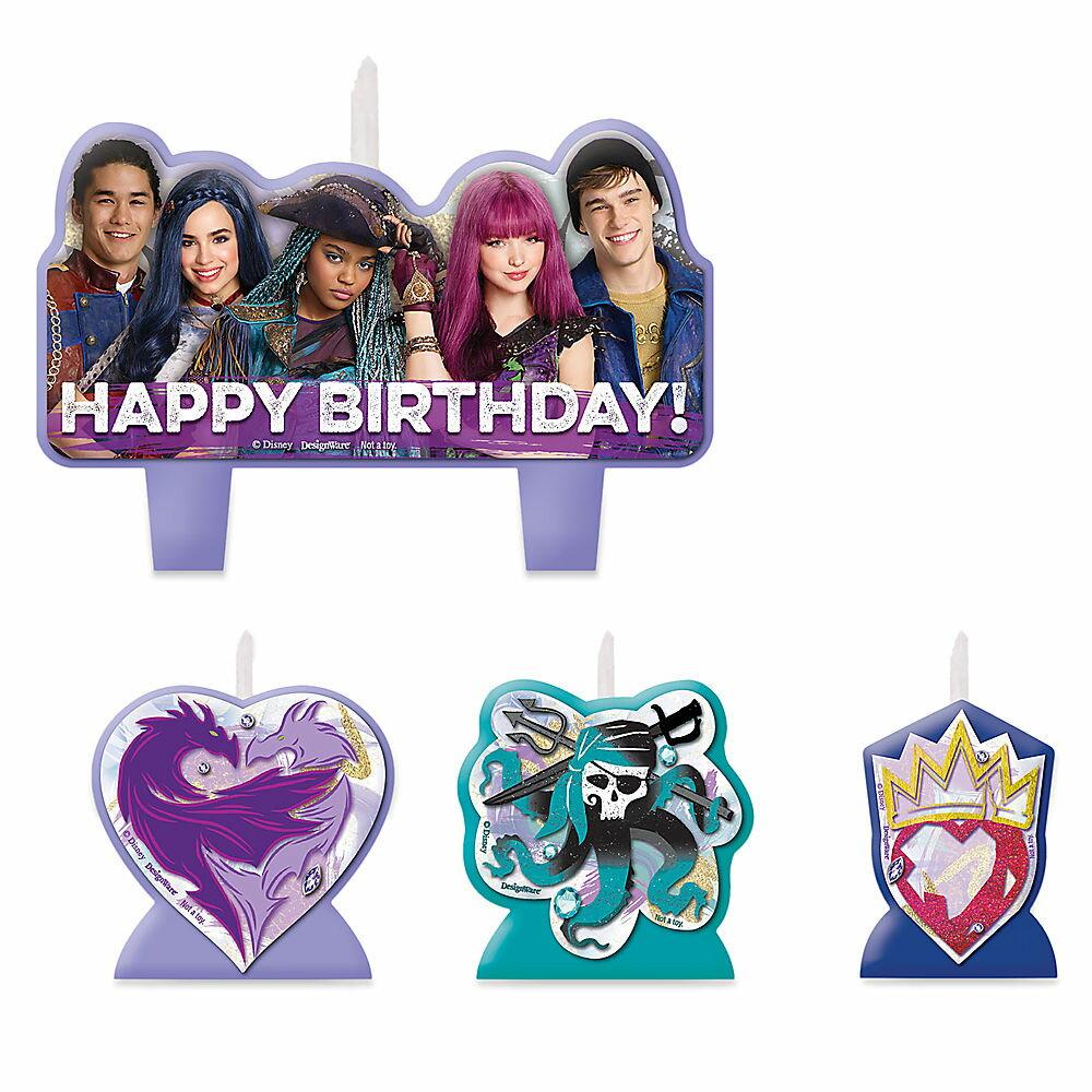 【取寄せ】 ディズニー Disney US公式商品 ディセンダント ディセンダンツ キャンドル 置物 ろうそく 蝋燭 パーティー セット バースデイキャンドル 誕生日 バースデー [並行輸入品] Descendants 2 Birthday Candle Set グッズ ストア プレゼント ギフト 人気 クリスマス