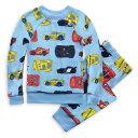 【1-2日以内に発送】 ディズニー Disney US公式商品 カーズ Cars パジャマ 寝巻き 部屋着 服 セット ベロア 男の子用 …