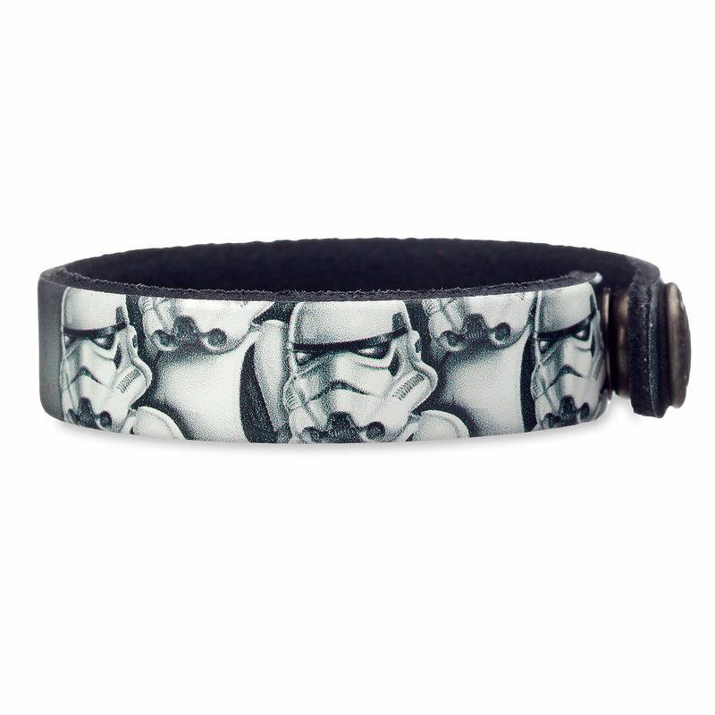 【取寄せ】 ディズニー Disney US公式商品 ストームトルーパー スターウォーズ ストームトゥルーパー ブレスレット ジュエリー アクセササリー [並行輸入品] Stormtrooper Leather Bracelet - Star Wars Personalizable グッズ ストア プレゼント ギフト 誕生日 人気 ク