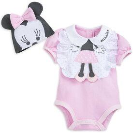 【あす楽】 ディズニー Disney US公式商品 ミニーマウス ロンパース 洋服 ベビー服 赤ちゃん 服 スタイ ビブ よだれ掛け セット ベビー 子供服 幼児 女の子 男の子 [並行輸入品] Minnie Mouse Layette Romper and Bib Set for Baby グッズ ストア プレゼン