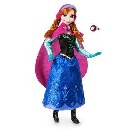 【1-2日以内に発送】 ディズニー Disney US公式商品 アナと雪の女王 アナ雪 アナ プリンセス クラシックドール 人形 指輪付き 指輪 リング おもちゃ フィギュア [並行輸入品] Anna Classic Doll with Ring - Frozen 11 1/2'' グッズ ストア プレゼント ギフト 誕生日