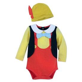 【1-2日以内に発送】 ディズニー Disney US公式商品 ピノキオ コスチューム 衣装 ドレス 服 コスプレ ハロウィン ハロウィーン ロンパース ボディスーツ ボディースーツ セット ベビー 赤ちゃん 幼児 女の子 男の子 [並行輸入品] Pinocchio Costume Bodysuit Set for Ba