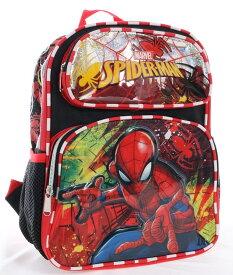 """【あす楽】【M】 ディズニーDisney スパイーダーマン スパイダー マーベル リュック リュックサック 旅行 バッグ バックパック 鞄 かばん 男の子 男子 男児 子供 子供用 ボーイズ キッズ [並行輸入品] 12"""" Spiderman Backpack クリスマス 誕生日 プレゼント"""
