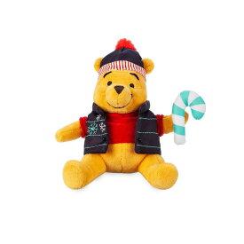 【あす楽】 ディズニー Disney US公式商品 くまのプーさん ぷーさん プーさん ぬいぐるみ 人形 ミニ おもちゃ 17.5cm [並行輸入品] Winnie the Pooh Holiday Plush - Mini Bean Bag 7'' グッズ ストア プレゼント ギフト クリスマス 誕生日 人気
