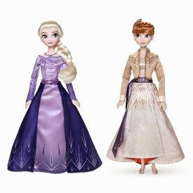 【1-2日以内に発送】 ディズニー Disney US公式商品 アナ雪2 アナと雪の女王 アナ雪 2 プリンセス アナ エルサ 人形 ドール フィギュア おもちゃ セット [並行輸入品] Anna and Elsa Doll Set Frozen II グッズ ストア プレゼント ギフト クリスマス 誕生日 人気